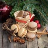Christmas time, macaroons Royalty Free Stock Photos