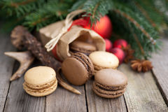 Christmas time, macaroons Royalty Free Stock Photography