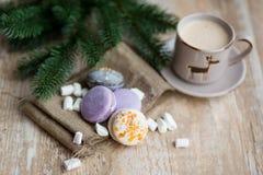 Christmas time, macaroons Stock Photography