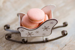 Christmas time, macaroons Stock Photos