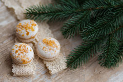 Christmas time, macaroons Royalty Free Stock Image