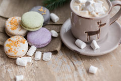 Christmas time, macaroons Stock Image