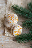 Christmas time, macaroons Royalty Free Stock Photos