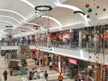 Christmas time at the mall royalty free stock photo