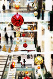 Christmas time in mall Stock Photos