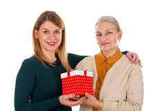 Christmas-time with mom Royalty Free Stock Images