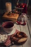 Christmas time mood evening tea party Stock Photo