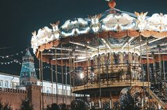 Christmas time in Moscow royalty free stock photography