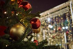 Christmas time. In Moscow russia winter Royalty Free Stock Photography