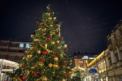 Christmas time. In Moscow russia winter Stock Photos