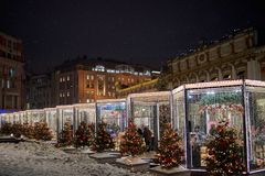 Christmas time. In Moscow russia winter Royalty Free Stock Image