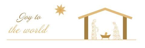 Christmas time - Nativity scene Stock Image