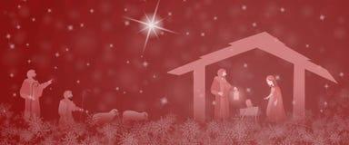 Christmas time - Nativity scene Stock Images