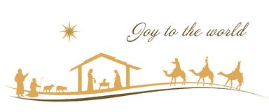 Christmas time - Nativity scene Royalty Free Stock Photography