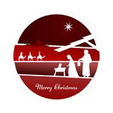 Christmas time - Nativity scene. Nativity scene with Mary, Joseph, baby Jesus and three kings Stock Images