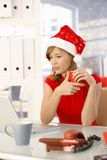 Christmas time in office Royalty Free Stock Photography