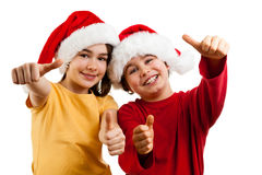 Christmas time - OK sign Stock Photography