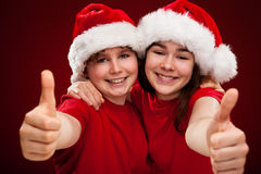 Christmas time - OK sign Stock Image