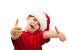 Christmas time - OK sign Stock Images