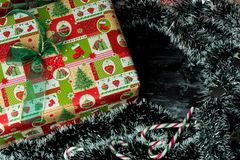 Christmas time, presents under the tree royalty free stock images