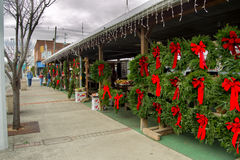 Christmas Time at the Salem Farmers Market Royalty Free Stock Images