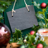Christmas time, slate Stock Images
