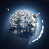 Christmas time at small planet stock illustration