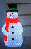 Christmas time. Waiting for christmas with a bright snowman Stock Photography