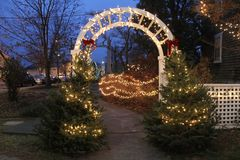 Christmas Time in Wickford, Rhode Island.  royalty free stock photography