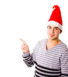 Christmas time for young man Royalty Free Stock Images