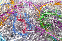 Christmas tinsel. Background from varicoloured christmas tinsel Stock Images