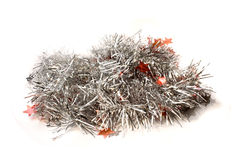 Christmas tinsel. Isolated on white background Royalty Free Stock Images