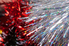 Christmas tinsel Stock Photography