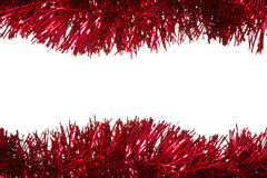 Christmas tinsel as a border Royalty Free Stock Photos