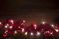 Christmas Tinsel Lights Background stock image