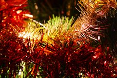 Christmas tinsel Stock Image