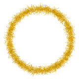 Christmas tinsel texture background blank for text Stock Images