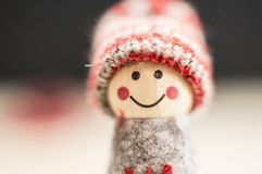 Christmas tiny doll Royalty Free Stock Images