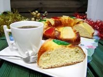 Christmas tipical sapanish rosco sweet Stock Photo