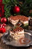 Christmas tiramisu Royalty Free Stock Photo