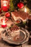 Christmas tiramisu Stock Images