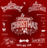 Christmas titles and design element Stock Photo