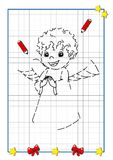 Christmas to be completed, the angel Royalty Free Stock Photo