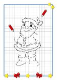 Christmas to be completed, Dad Christmas Royalty Free Stock Photo