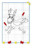 Christmas to be completed, the reindeer Stock Photography
