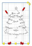 Christmas to be completed, the tree stock illustration