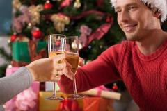 Christmas toast. Stock Image