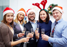 Christmas toast Royalty Free Stock Images