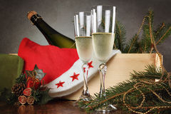Christmas toast is ready Royalty Free Stock Photos