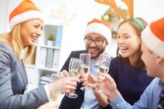 Christmas toasting Stock Photo